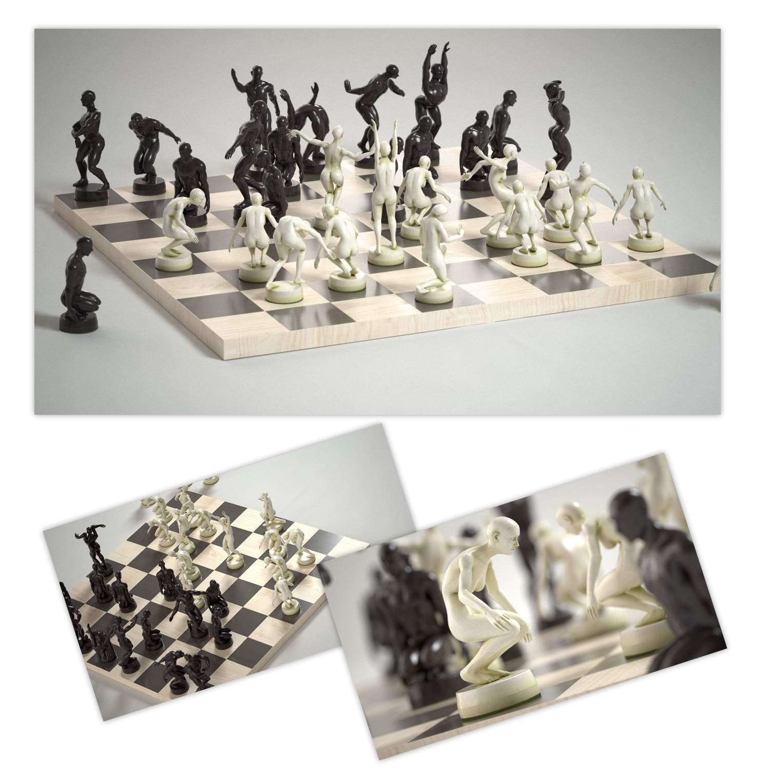wtf hand crafted chess set omg gimme